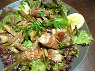 鶏ごぼうなのに洋風サラダ